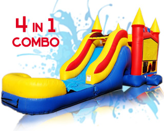 4 in 1 water slide combo