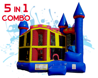 5 in 1 combo waterslide